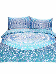 cheap -BeddingOutlet Luxury Boho Bedding Crystal Arrays Duvet Quilt Cover Blue Printed Bedspread 3Pcs New Arrivals