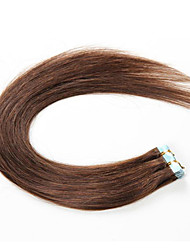 Tape Wefts Human Hair Extensions #60 Platinum Blonde 20pcs/pack Seamless Pu Skin Weft Brazilian Remy New Hair Products