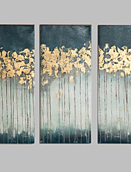 cheap -Oil Painting Hand Painted - Abstract European Style Modern Canvas Three Panels