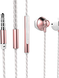 ESONG Q8 In-Ear Earphone Diamond Heavy bass Surround sound Metal headphone with Microphone for iPhone