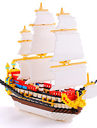 Недорогие -66501 Конструкторы 3000 pcs Четырехугольник Корабль Четырехугольник Подарок