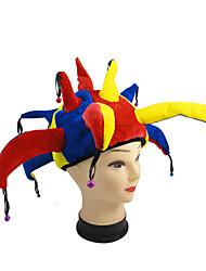 multicolores halloween drôle bouffon chapeau de clown chapeau de cosplay mardi gras de halloween accessoires hommes femmes avec des