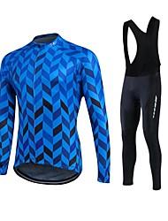 Fastcute Maglia con salopette lunga da ciclismo Per uomo Per donna Unisex Manica lunga Bicicletta Pantalone/Sovrapantaloni Tuta da