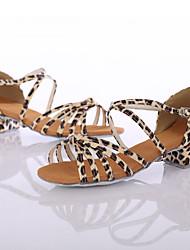 """Da donna Balli latino-americani Sneakers da danza moderna Finta pelle Tacchi Per interni Esibizione Con lacci Quadrato Leopardo Sotto 1 """""""