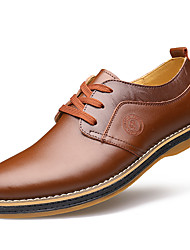 Da uomo Scarpe Pelle Primavera Estate Autunno Inverno Comoda Oxfords Footing Lacci Per Matrimonio Nero Marrone