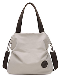 cheap -Women's Bags Canvas Tote for Casual All Seasons Black Beige Gray Coffee Blue
