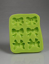 cheap -Green bows shape chocolate candy 3D silicone fondant mold decoration baking tools kitchen accessories Color Random
