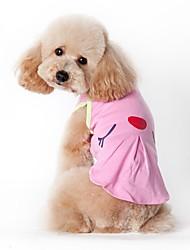 Недорогие -Кошка Собака Костюмы Футболка Жилет Одежда для собак Косплей Праздник На каждый день Мода Спорт Американский / США Зеленый Розовый Костюм