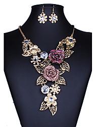 Schmuckset Halskette / Ohrringe Sexy Modisch Europäisch Gold Halsketten Ohrringe Für Hochzeit Party Alltag Normal 1 Set Hochzeitsgeschenke