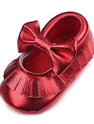 cheap -Baby Unisex Shoes Leatherette Spring Fall Flats for Wedding Athletic Casual Outdoor Party & Evening White Silver Purple Red Golden