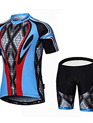 cheap -Malciklo Cycling Jersey with Shorts Men's Short Sleeve Bike Clothing SuitsQuick Dry Front Zipper Wearable High Breathability (>15,001g)