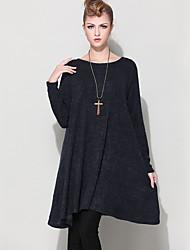 cheap -Women's A Line Dress - Solid Colored Mini