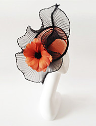 cheap -Flax Fascinators with 1 Wedding / Special Occasion Headpiece