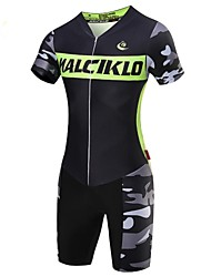 cheap -Malciklo Men's Short Sleeve Cycling Jersey with Shorts Geometic / British Bike Clothing Suit, 3D Pad, Quick Dry, Breathable Coolmax®, Lycra / High Elasticity / SBS Zipper
