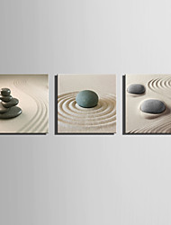 cheap -E-HOME® Stretched Canvas Art The Desert Stone Decoration Painting  Set of 3