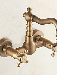 cheap -Kitchen faucet - Traditional Antique Brass Bar / ­Prep Wall Mounted