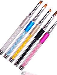 New 1pcs Professional Nail Art Design Brush Pen Drawing Lines Painting Carving Gradient UV Gel Salon Beauty Nail Tools