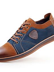 Недорогие -Для мужчин обувь Кожа Весна Лето Осень Зима Удобная обувь Туфли на шнуровке Шнуровка Назначение Повседневные Серый Коричневый