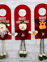 Design Is Random Christmas Tree Decor Ornaments Xmas Home Door Decoration Santa Claus Snowman Reindeer