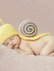 cheap -Newborn Prince Vintage Photography Prop Birthday Snail Knitting Hat (0-6Month)