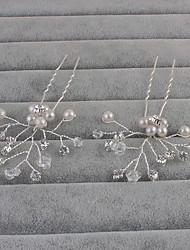billige -Imiteret Perle Hair Pin med 1 Bryllup / Speciel Lejlighed / Afslappet Medaljon