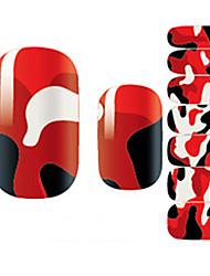 14Pcs/Sheet 아트 스티커 네일 3D 네일 스티커 만화 / 러블리 메이크업 화장품 아트 디자인 네일