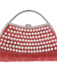Women Bags Spring Summer Fall Winter All Seasons Polyester Evening Bag with Sequin Imitation Pearl for Wedding Event/Party Shopping