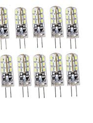 cheap -YouOKLight 10pcs 75lm G4 LED Bi-pin Lights T 24 LED Beads SMD 3014 Decorative Warm White Cold White 12V