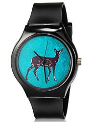 abordables -Reloj de Pulsera Cool / Colorido Silicona Banda Casual Negro