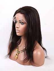 billige -Menneskehår Halvblonder uden lim / Blonde Front Paryk Lige Paryk 130% Natural Hairline / Afro-amerikansk paryk / 100 % håndbundet Dame Kort / Medium / Lang Blondeparykker af menneskehår / Ret