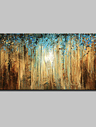 cheap -Hand-Painted Abstract Landscape Abstract Landscape Floral/Botanical Horizontal, Modern Canvas Oil Painting Home Decoration One Panel