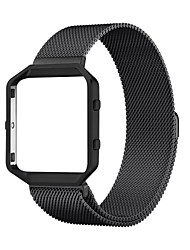 cheap -23mm Milanese Loop  Band (6.1-9.3 in) & Stainless Steel Frame Bracelet Strap Band for Fitbit Blaze Smart Fitness Watch
