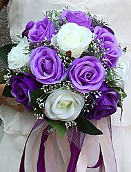 "cheap -Wedding Flowers Bouquets Wedding Party / Evening Satin 9.84""(Approx.25cm)"
