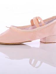 "cheap -Women's Dance Sneakers Synthetic Sneaker Indoor Chunky Heel Black Red Pink Under 1"" Customizable"