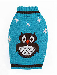 cheap -Dog Sweater Dog Clothes Cartoon Orange Green Blue Woolen Costume For Pets Men's Women's Keep Warm