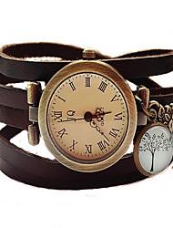 cheap -Women's Bracelet Watch Quartz Hot Sale / Stainless Steel Band Analog Vintage Bangle Fashion Black / Brown / Khaki - Black Coffee Brown
