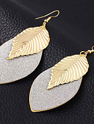 cheap -Women's Drop Earrings - Silver Plated, Gold Plated Leaf Vintage, European, Fashion Gold / Black / Silver For Wedding / Party