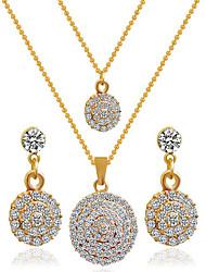 economico -Parure di gioielli Lega Strass imitazione diamante Doppio strato Di tendenza Oro Bianco Collana / orecchini Feste Quotidiano Casual 1 Set