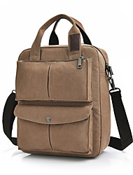 cheap -Men's Bags Canvas Shoulder Bag Zipper Black / Brown / Khaki