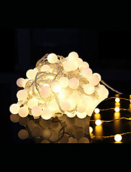 cheap -10m String Lights 100 LEDs Dip Led Warm White Remote Control / RC / Dimmable / Linkable 220 V / Color-Changing / IP44