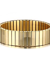 cheap -Men's Bangles - Stainless Steel, Gold Plated Punk, Simple Style, Fashion Bracelet Golden For Christmas Gifts / Party / Anniversary