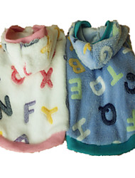 Dog Hoodie Pajamas Dog Clothes Cute Casual/Daily Letter & Number Pink Light Blue Costume For Pets