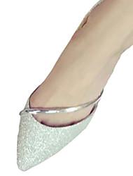 Da donna Ballerine Comoda PU (Poliuretano) Autunno Casual Comoda Piatto Argento Dorato Piatto