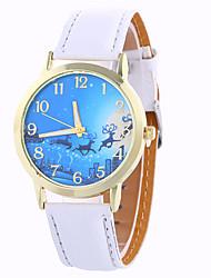 Недорогие -Женские Модные часы Наручные часы Цветной Кварцевый Цифровой PU Группа Винтаж Конфеты С подвесками Повседневная Cool Черный Белый