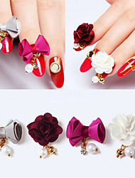 cheap -4 pcs Nail Jewelry Flower / Fashion Daily Nail Art Design