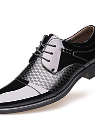 cheap -Men's Shoes Patent Leather Winter Fall Formal Shoes Oxfords for Casual Party & Evening Brown Black
