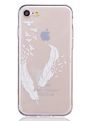 economico -Per iPhone X iPhone 8 iPhone 7 iPhone 7 Plus iPhone 6 Custodie cover Transparente Decorazioni in rilievo Fantasia/disegno Custodia
