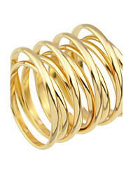 cheap -Gold Silver Plated Metal Big Finger Rings