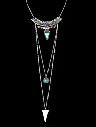 cheap -Indian Design Jewelry Long Chain Triangle Pendant Necklace