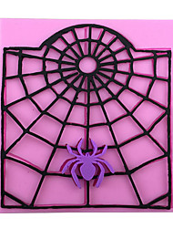 cheap -Halloween Webs Baking Mold Cake Mold 3D Silicone Mould Cake Decorating Baking Tool  Random Color